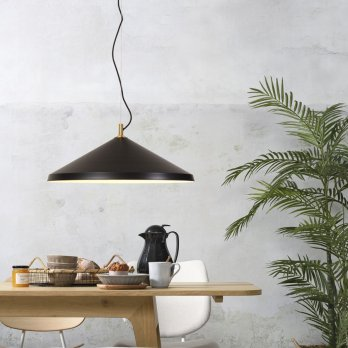 Montreux black messing hanglamp
